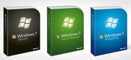 Microsoft Windows 7 Home Premium, Professional and Ultimate