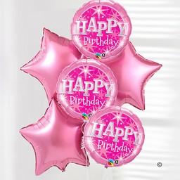 Happy Birthday Pink Balloon Bouquet 800