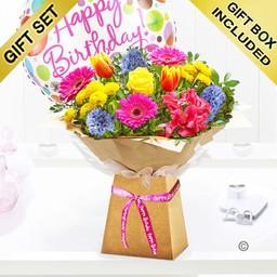 Spring Brights Happy Birthday Box Balloon H 211111